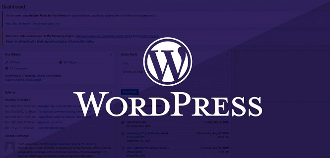 История CMS WordPress